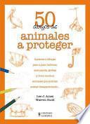 libro 50 Dibujos De Animales A Proteger