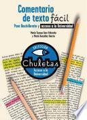 libro Comentario De Texto Fácil Para Bachillerato