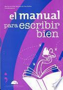 libro El Manual Para Escribir Bien