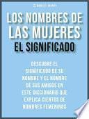 libro Los Nombres De Mujeres   El Significado