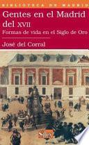libro Gentes En El Madrid Del Xvii