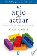 libro El Arte De Actuar