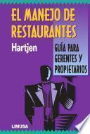 libro El Manejo De Restaurantes