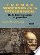 libro Formas Modernas De La Intolerancia