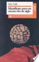 libro Manifiesto Para Un Oscuro Fin De Siglo