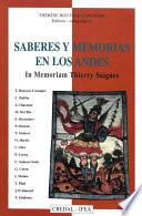 libro Saberes Y Memorias En Los Andes