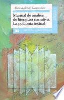 libro Manual De Análisis De Literatura Narrativa
