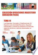 libro Colección Oposiciones Magisterio Educación Física. Tema 14