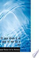 libro El Que Diran Y El Que Se Me Da A Mi