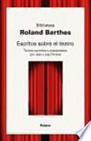 libro Escritos Sobre El Teatro