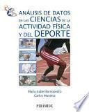 libro Análisis De Datos En Las Ciencias De La Actividad Física Y Del Deporte