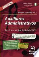 libro Auxiliares Administrativos Del Sas. Temario Específico. Volumen 1