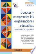 libro Conocer Y Comprender Las Organizaciones Educativas