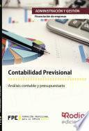 libro Contabilidad Previsional. Financiación De Empresas. Administración Y Gestión