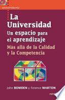 libro La Universidad, Un Espacio Para El Aprendizaje