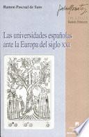 libro Las Universidades Españolas Ante La Europa Del Siglo Xxi
