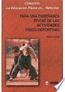 libro Para Una Enseñanza Eficaz De Las Actividades Físico Deportivas