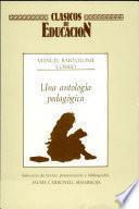 libro Una Antología Pedagógica