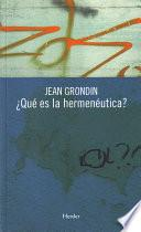 libro ¿qué Es La Hermenéutica?