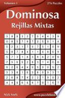 libro Dominosa Rejillas Mixtas   Volumen 1   276 Puzzles
