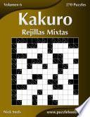 libro Kakuro Rejillas Mixtas   Volumen 6   270 Puzzles