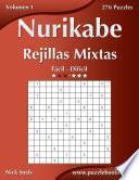 libro Nurikabe Rejillas Mixtas   De Fácil A Difícil   Volumen 1   276 Puzzles