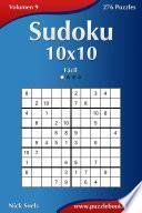 libro Sudoku 10x10   Fácil   Volumen 9   276 Puzzles