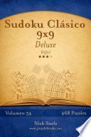 libro Sudoku Clásico 9x9 Deluxe   Difícil   Volumen 54   468 Puzzles