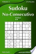 libro Sudoku No Consecutivo   Medio   Volumen 3   276 Puzzles