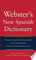 libro Webster S New World Spanish Dictionary