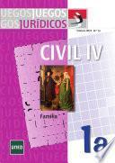 libro Juegos Jurídicos. Derecho Civil Iv: Familia No 1a