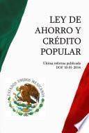 libro Ley De Ahorro Y Crédito Popular