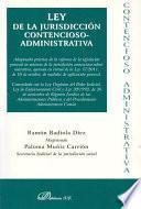 libro Ley De La Jurisdicción Contencioso Administrativa