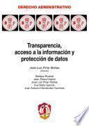 libro Transparencia, Acceso A La Información Y Protección De Datos