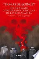 libro Del Asesinato Considerado Como Una De Las Bellas Artes