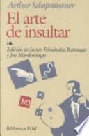 libro El Arte De Insultar
