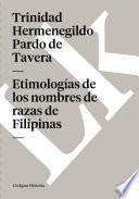 libro Etimologías De Los Nombres De Razas De Filipinas