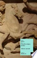 libro Filosofía Antigua Poética