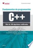 libro Fundamentos De Programación C++ (100 Algoritmos Codificados)