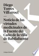 libro Noticia De Las Virtudes Medicinales De La Fuente Del Caño De La Villa De Babilafuente