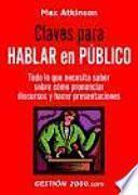 libro Claves Para Hablar En Público