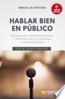 libro Hablar Bien En Público