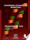 libro Atotonilco De Tula Estado De Hidalgo. Cuaderno Estadístico Municipal 1997
