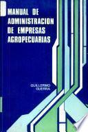 libro Manual De Administracion De Empresas Agropecuarias