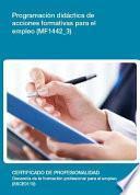 libro Mf1442_3   Programación Didáctica De Acciones Formativas Para El Empleo