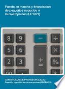 Uf1821   Puesta En Marcha Y Financiación De Pequeños Negocios O Microempresas
