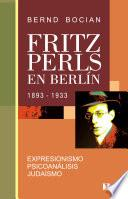 libro Fritz Perls En Berlín, 1893 1933