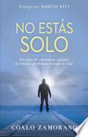 libro No Estas Solo: Un Rayo De Esperanza Cuando La Tristeza Profunda Invade Tu Vida